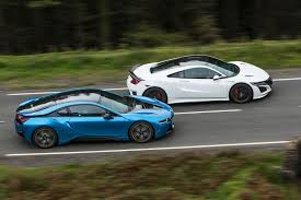 bmw supercar honda nsx vs bmw i8 vs mclaren 570s supercars compared autocar