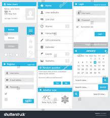 website template flat design elements login stock vector 163138895