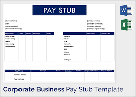 Pay Stub Template Excel Pdf Pay Stub Template