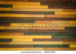 colorful wooden wall made different types stock photo 428841415