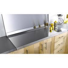 plaque d inox pour cuisine plan de travail inox brillant l 120 x p 60 cm ep 42 mm leroy merlin