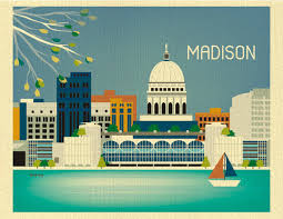 home decor madison wi madison wisconsin skyline gift art poster print for home decor