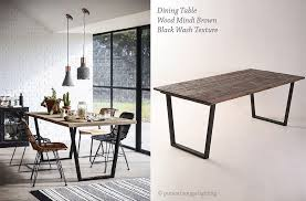 Industrial Dining Room Tables Industrial Style Dining Room With Wood Mindi Brown Dining Table