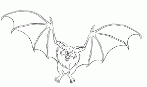 bat print out kids coloring