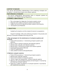 Computer Hardware And Networking Resume Samples Computer Hardware Servicing Learner U0027s Material Grade 10
