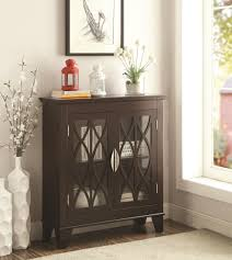 accent cabinet with glass doors glass doors cappuccino accent cabinet from coaster picture on