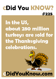 in the us about 280 million turkeys are sold for the thanksgiving