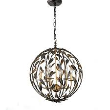 Iron Orb Chandelier Country Iron Art Orb Chandelier In Baking Finish 10569 Browse