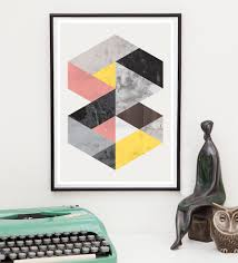 Modern Wall Art Geometric Marble Abstract Print Minimalist Modern Wall Art