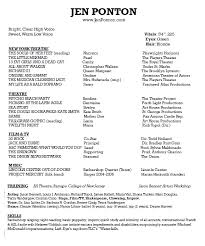 Musical Theater Resume Sample by Ships Ahoy Actor Marketing Materials Blog