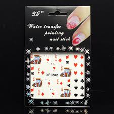 poker ace nail art stickers water tips decals transfers online