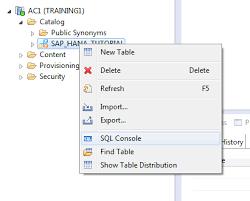 How To Delete Table In Sql Sap Hana Procedure