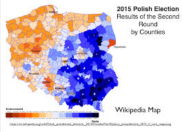 Map Election by Poland U0027s Stark Electoral Divide Geocurrents