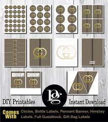 14 95 printable gucci party decorations gucci party favors