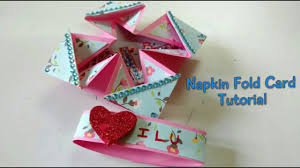 tutorial scrapbook card napkin fold love card tutorial for scrapbook how to craftlas
