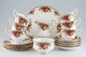 roses tea set details about royal albert country roses tea cup and saucer w