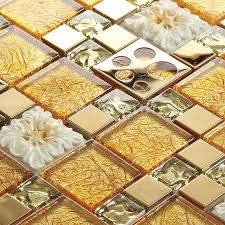 Gold Items Crystal Glass Mosaic Tile Wall Backsplashes by Mesh Flower Mosaic Tile Promotion Shop For Promotional Mesh Flower
