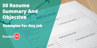 What An Objective In A Resume Should Say Resume Summary And Objective Examples For Any Job