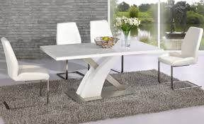 High Gloss Extending Dining Table with White High Gloss Extending Dining Table And Chairs Uk With Black