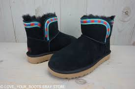 uggs womens boots on ebay ugg rosamaria embroidery black mini womens boots booties