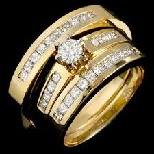 wedding ring trio sets 14k gold wedding ring sets wedding corners