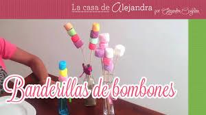 bonbon baby shower como hacer banderillas de bombones pintados y azucarados youtube