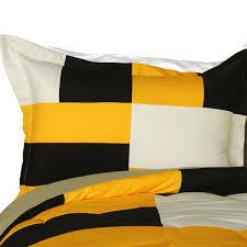 Yellow Comforter Twin Bedroom Yellow Black White Teen Boy Bedding Twin Fullqueen King