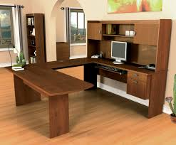 U Shape Desks Bestar Omega Tuscany Brown U Shaped Desk 52418 63