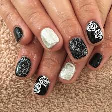 nails design black and white beautify themselves with sweet nails