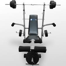bench barbell set with bench weider pro standard bench lb vinyl