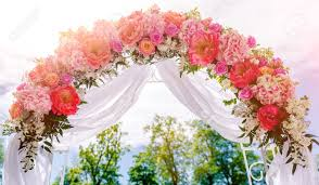 wedding arches decorated with flowers beautiful white wedding arch decorated with pink and flowers