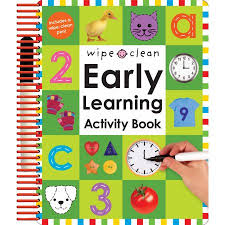 wipe clean early learning activity book walmart com