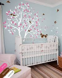 White Tree Wall Decal For Nursery White Tree Wall Decal Squirrel Nursery Decor Wall Mural Sticker