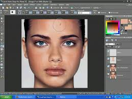 even skin tone with corel paint shop pro x2 and remove a shiny