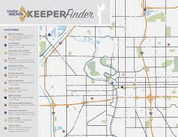 Wsu Parking Map 10 Foot Tall Keeper Of The Plains Statues Invade Wichita