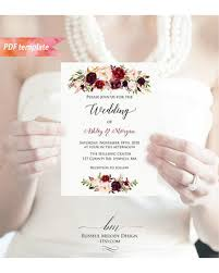 wedding program fans vistaprint amazing savings on printable burgundy floral wedding invitation pdf
