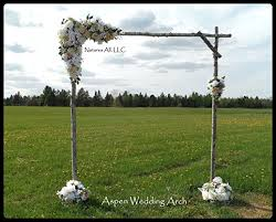 wedding arches diy diy rustic aspen wedding arch handmade