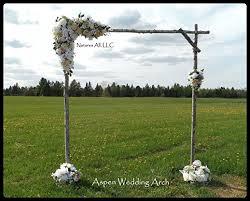 diy wedding arch diy rustic aspen wedding arch handmade