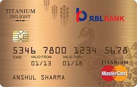 Titanium Business Cards Rbl Bank Titanium Delight Credit Card Apply Online 750 Annual