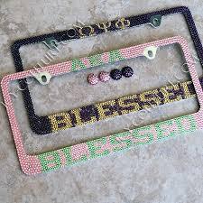 Sorority Picture Frame Or Other Custom Sorority Swarovski Crystals License Plate Frame