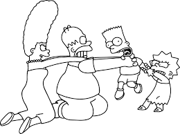 download coloring pages simpsons coloring pages simpsons