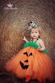Baby Halloween Costumes Pumpkin Pumpkin Tutu Dress Jack Lantern Dress Infant Toddler