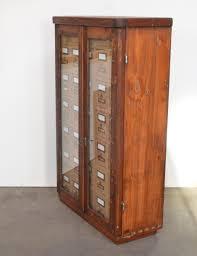 Antique Wood File Cabinet Vintage Wooden Filing Cards Cabinet For Sale At Pamono