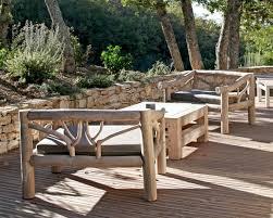 canapé bois flotté salon de jardin en bois canapé de jardin inds