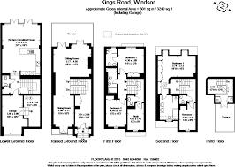 floor plan of windsor castle 5 bedroom terraced house for sale in long walk villas 76a kings