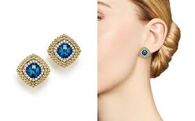 topaz earrings blue topaz earrings bloomingdale s