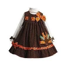 new bonnie jean 2pc turkey jumper dress thanksgiving clothes