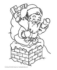 santa claus coloring pages santa claus chimney