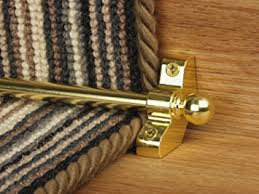 stair rods brass easy rods to fit good quality hollow stair