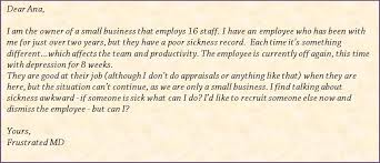 how do you deal with long term employee sick leave hchr